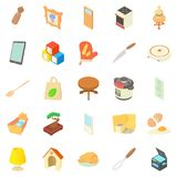 Steading icons set, cartoon style. Steading icons set. Cartoon set of 25 steading vector icons for web isolated on white background Royalty Free Stock Images