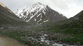 Rocky landscape during spring