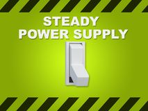 Steady Power Supply concept Stock Photo