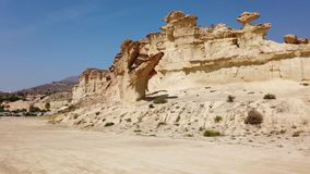 Rock formations Erosions of Bolnuevo
