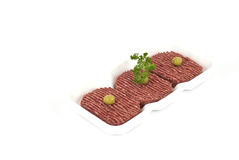 Steak. Minced meat with herbs and garlic Stock Image