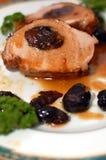 Steak. Of pork with plum Stock Photos