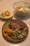 Steak-Abendessen Lizenzfreie Stockfotos
