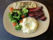 Steak-Abendessen Lizenzfreies Stockfoto