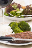 Steak-Abendessen Lizenzfreie Stockfotos