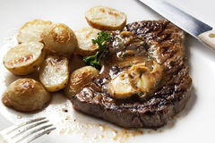 Steak with Anchovy Butter Royalty Free Stock Images