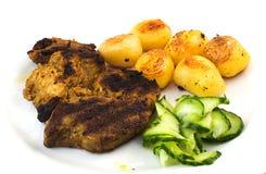 Steak And Potatoes Stock Photo