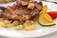 Steak And Potatoes Royalty Free Stock Photography