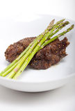 Steak with Asparagus Royalty Free Stock Photo