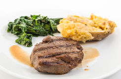 Steak Au Jus Royalty Free Stock Photo