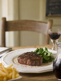 Steak Au Poirve Stock Photo