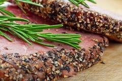 Steak au poivre Photographie stock libre de droits