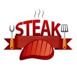 Steak badge Stock Image