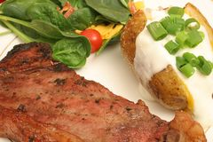 Steak and baked potato Royalty Free Stock Photos