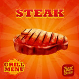 Steak banner Royalty Free Stock Images