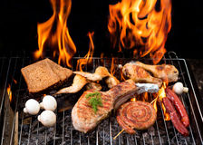 Steak on a barbecue royalty free stock image