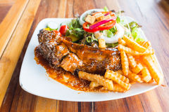 Steak barbecue pork  spareribs Royalty Free Stock Images