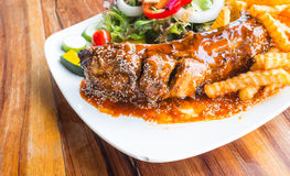 Steak barbecue pork  spareribs Royalty Free Stock Photography