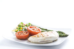 Steak barbecued chicken with vegetables Stock Photography