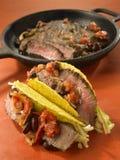 Steak and bean taco Royalty Free Stock Photos
