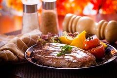Steak. Beef steak on a dinner stock photography
