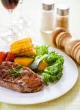 Steak. Beef steak on a dinner stock photos
