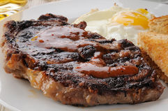 Steak breakfast Stock Images