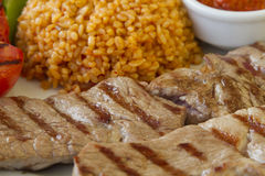Steak with Bulgur Royalty Free Stock Images