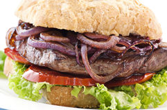 Steak Burger Stock Photo