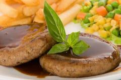 Steak burger Stock Image