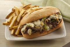 Steak and cheese sandwich Royalty Free Stock Photography
