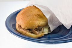 Steak and cheese sub Stock Photography