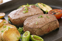 Steak with Chips Stock Image