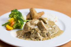 Steak Diane Stockfoto