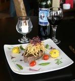 Steak Dinner. Steak Fine Dining Dinner Entertainment Royalty Free Stock Image