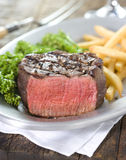 Steak Dinner. With Fries and Broccoli Stock Image