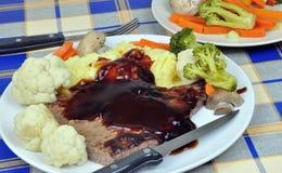 STEAK DINNER Stock Image