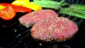 Steak dinner stock video