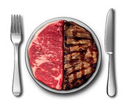 Steak Dinner Symbol Royalty Free Stock Photography