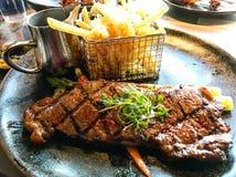 Steak an einem Restaurant lizenzfreie stockfotos