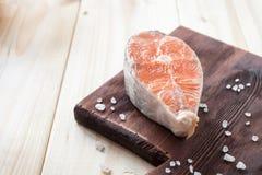 Steak eines Lachses Lizenzfreies Stockfoto