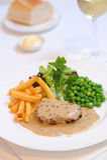 Steak für Abendessen Stockbild