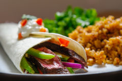 Steak Fajita Stock Photo