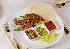 Steak Fajitas on Plate Royalty Free Stock Photos