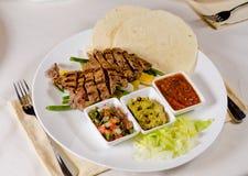 Steak Fajitas on Plate Royalty Free Stock Photos
