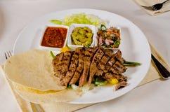 Steak Fajitas on Plate Stock Photos