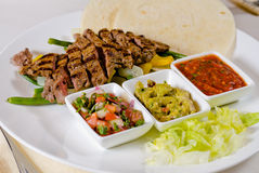Steak Fajitas on Plate stock image