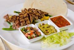 Steak Fajitas on Plate Stock Image