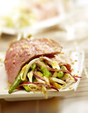 Steak filled with diffrent kind of vegetables Royalty Free Stock Photo