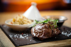 Steak fillet of lamb Royalty Free Stock Photos